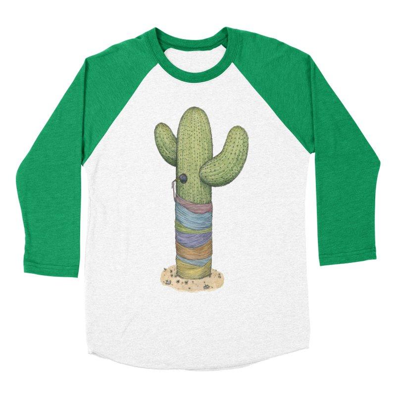 Cactus Yarn Women's Baseball Triblend Longsleeve T-Shirt by Scott Teplin's Chazerai Bazaar