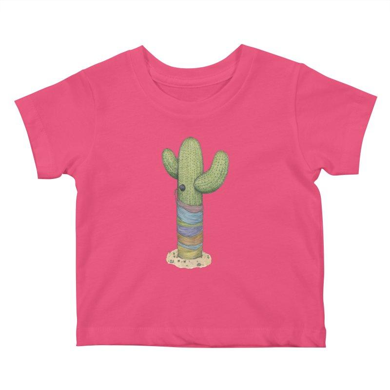 Cactus Yarn Kids Baby T-Shirt by Scott Teplin's Chazerai Bazaar