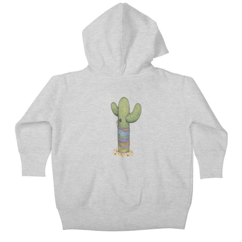 Cactus Yarn Kids Baby Zip-Up Hoody by Scott Teplin's Chazerai Bazaar
