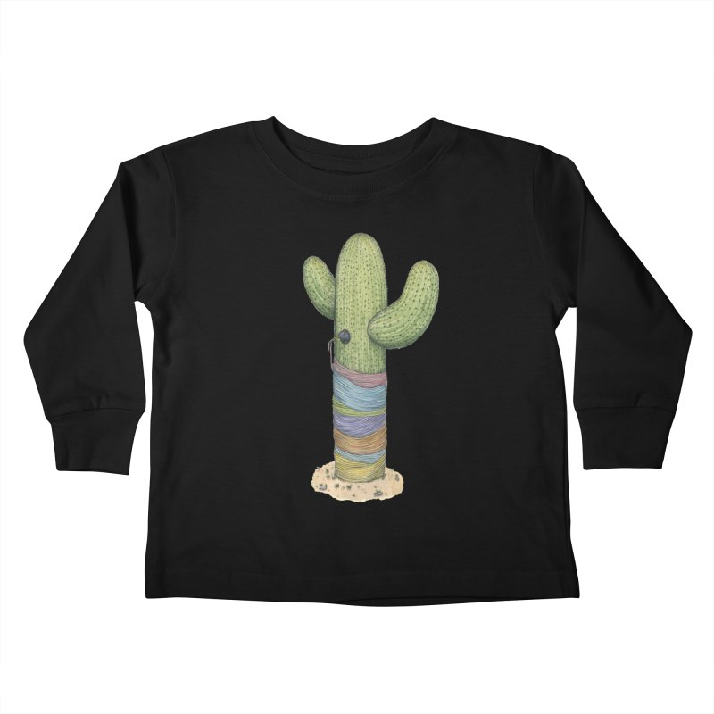 Cactus Yarn Kids Toddler Longsleeve T-Shirt by Scott Teplin's Chazerai Bazaar
