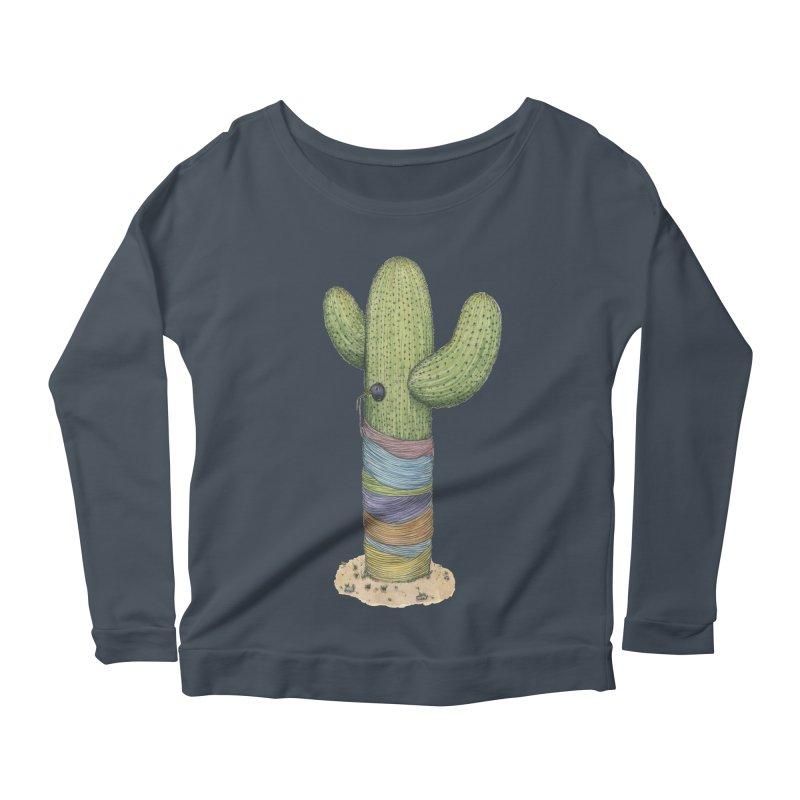 Cactus Yarn Women's Scoop Neck Longsleeve T-Shirt by Scott Teplin's Chazerai Bazaar