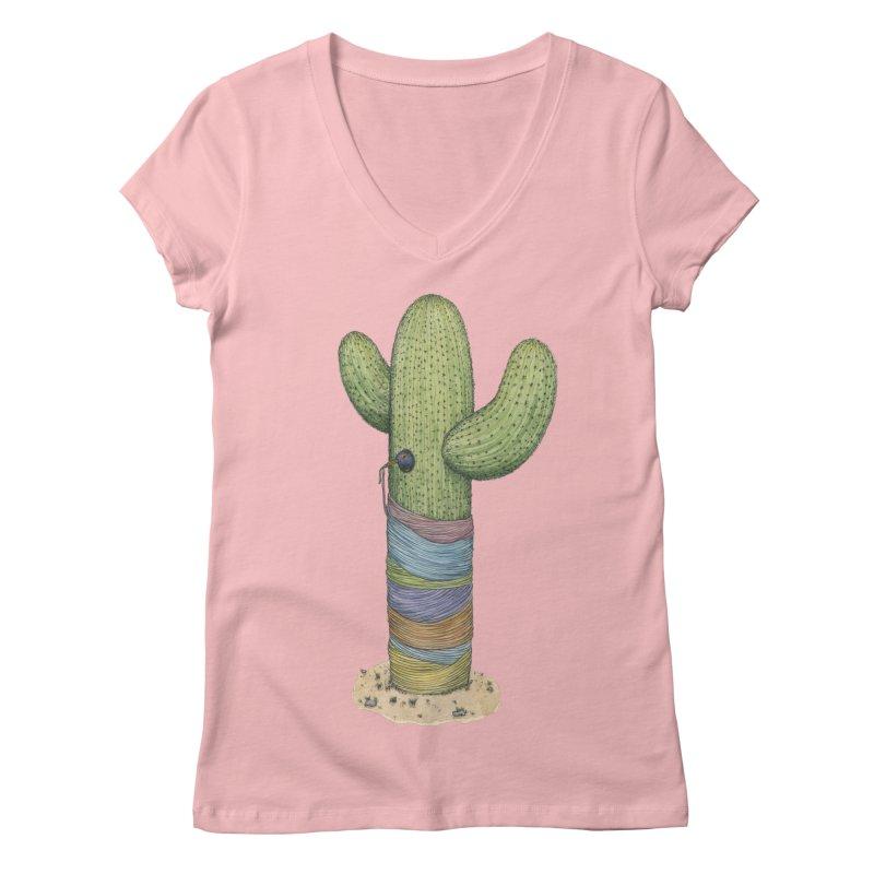 Cactus Yarn Women's Regular V-Neck by Scott Teplin's Chazerai Bazaar