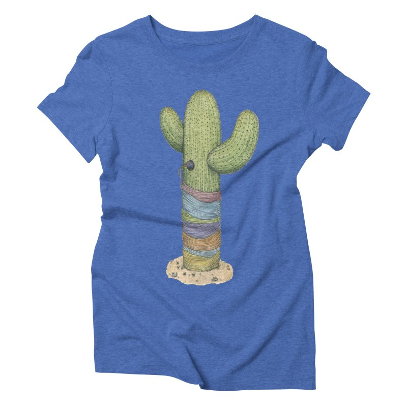 Cactus Yarn Women's Triblend T-Shirt by Scott Teplin's Chazerai Bazaar
