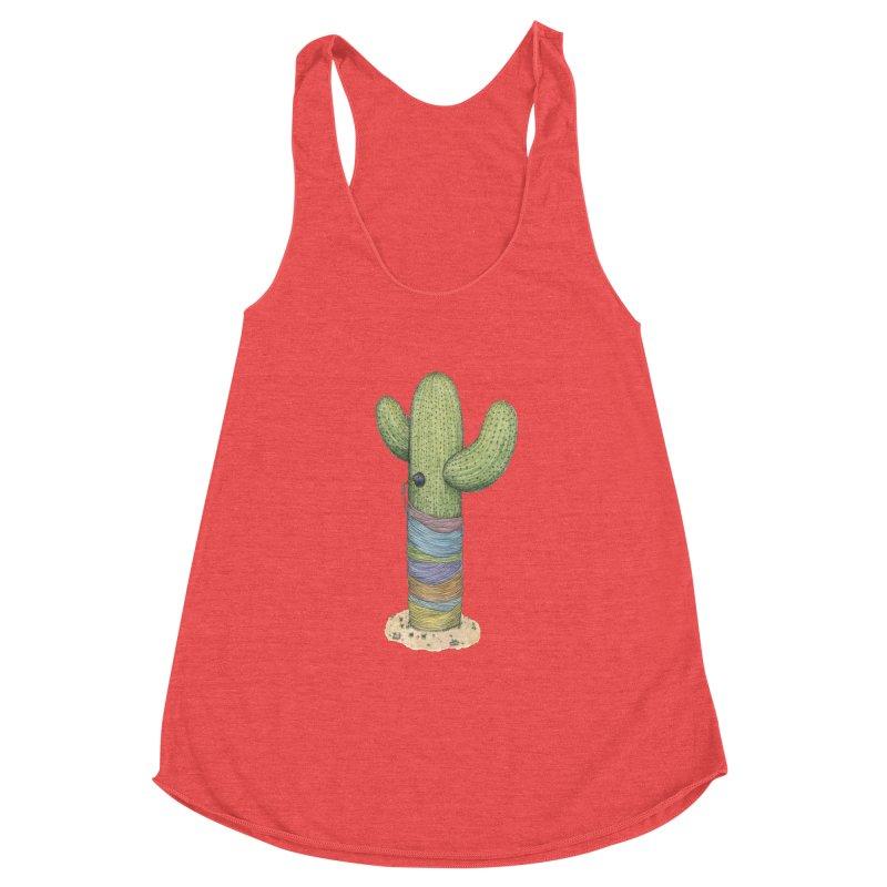 Cactus Yarn Women's Racerback Triblend Tank by Scott Teplin's Chazerai Bazaar