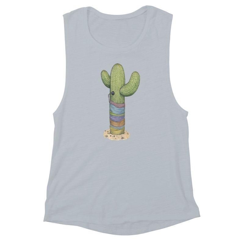Cactus Yarn Women's Muscle Tank by Scott Teplin's Chazerai Bazaar