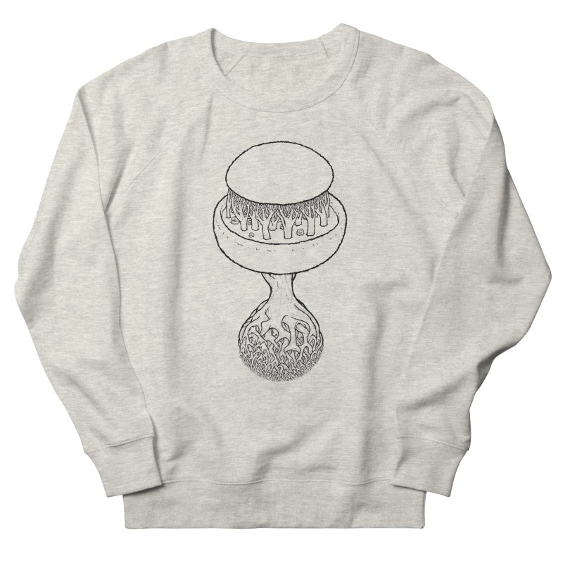 Rootball lineas Men's French Terry Sweatshirt by Scott Teplin's Chazerai Bazaar