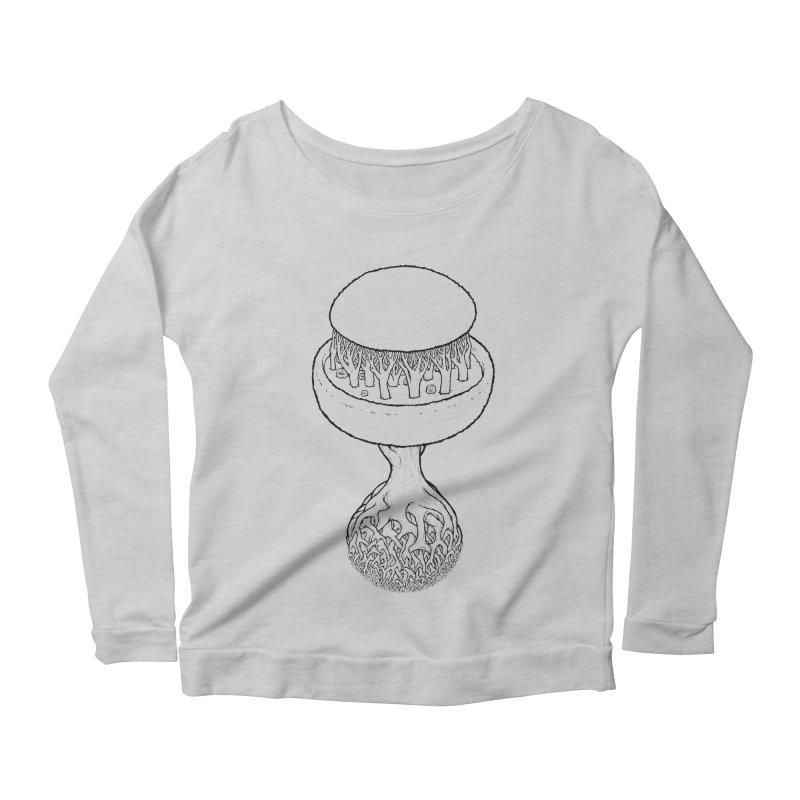 Rootball lineas Women's Scoop Neck Longsleeve T-Shirt by Scott Teplin's Chazerai Bazaar