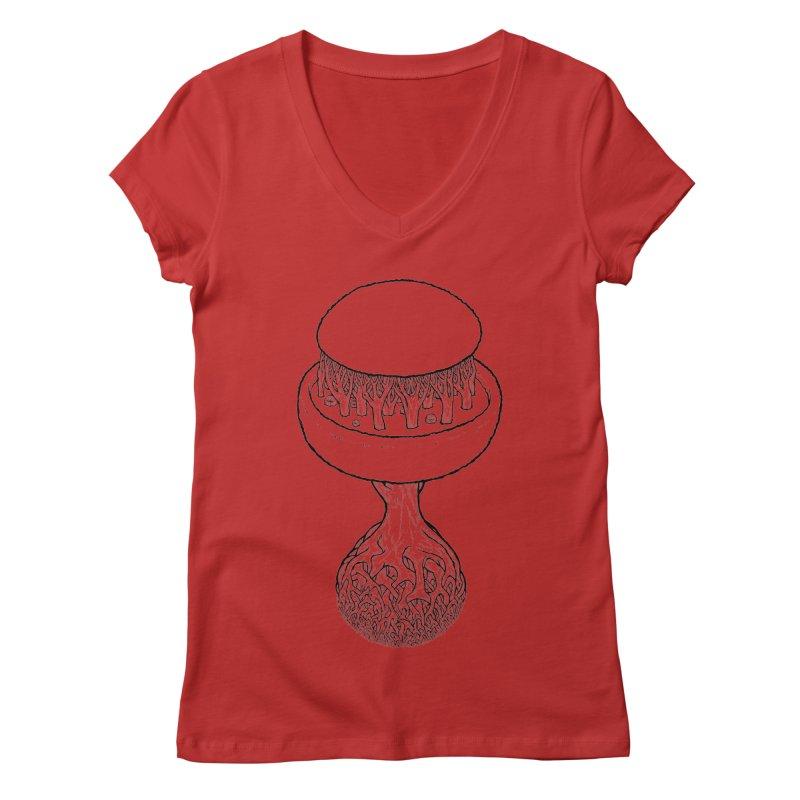 Rootball lineas Women's Regular V-Neck by Scott Teplin's Chazerai Bazaar