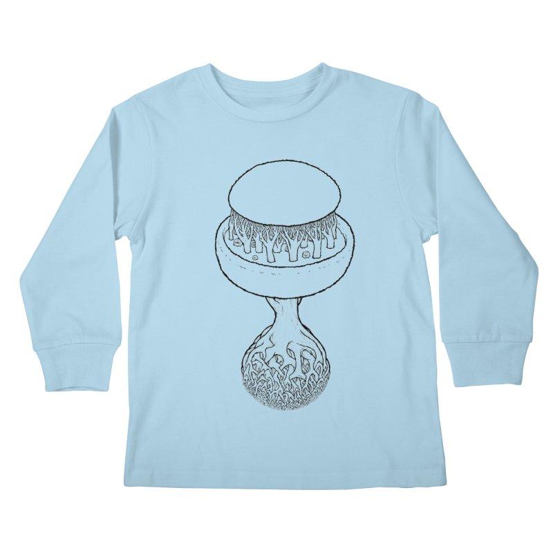 Rootball lineas Kids Longsleeve T-Shirt by Scott Teplin's Chazerai Bazaar
