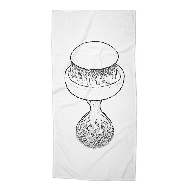 Rootball lineas Accessories Beach Towel by Scott Teplin's Chazerai Bazaar