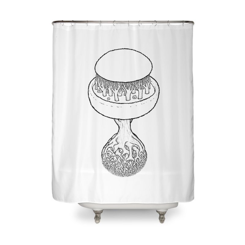 Rootball lineas Home Shower Curtain by Scott Teplin's Chazerai Bazaar