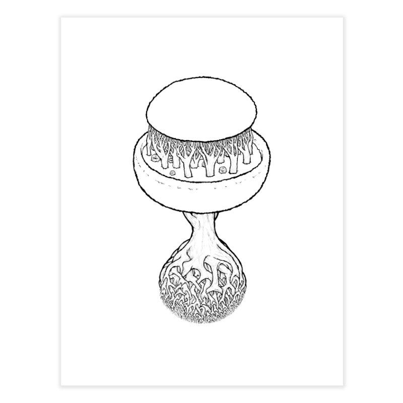 Rootball lineas Home Fine Art Print by Scott Teplin's Chazerai Bazaar