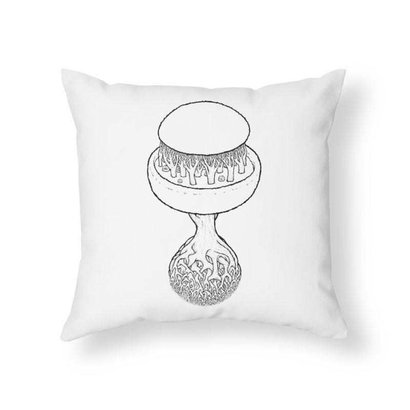Rootball lineas Home Throw Pillow by Scott Teplin's Chazerai Bazaar