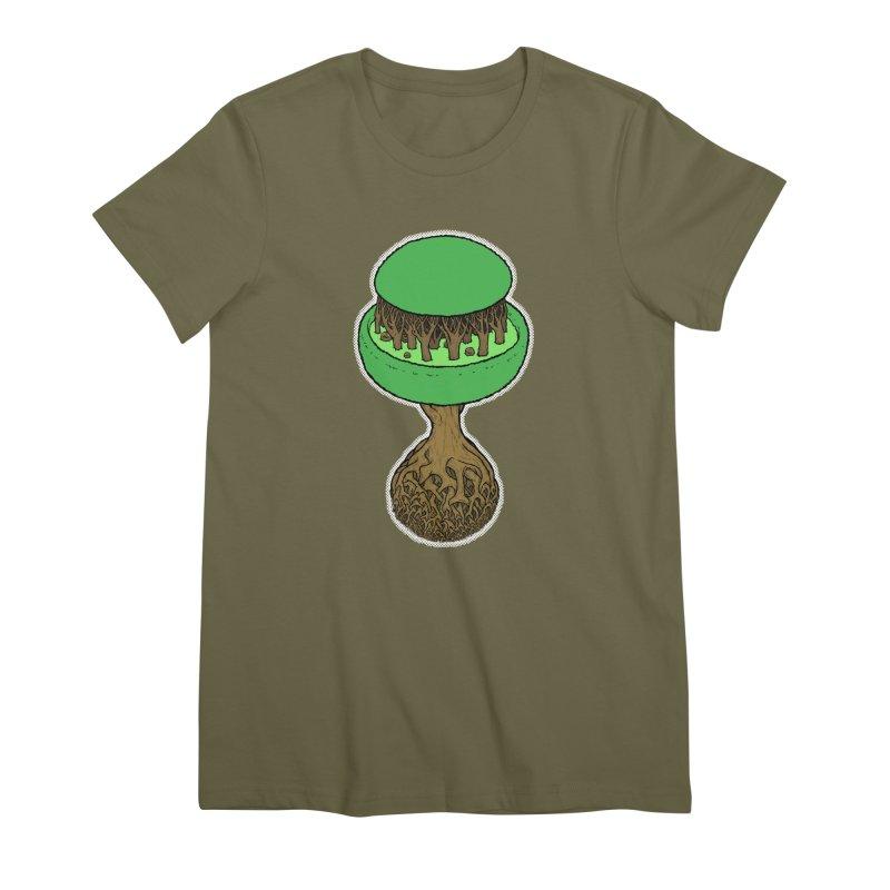 Rootball color Women's Premium T-Shirt by Scott Teplin's Chazerai Bazaar