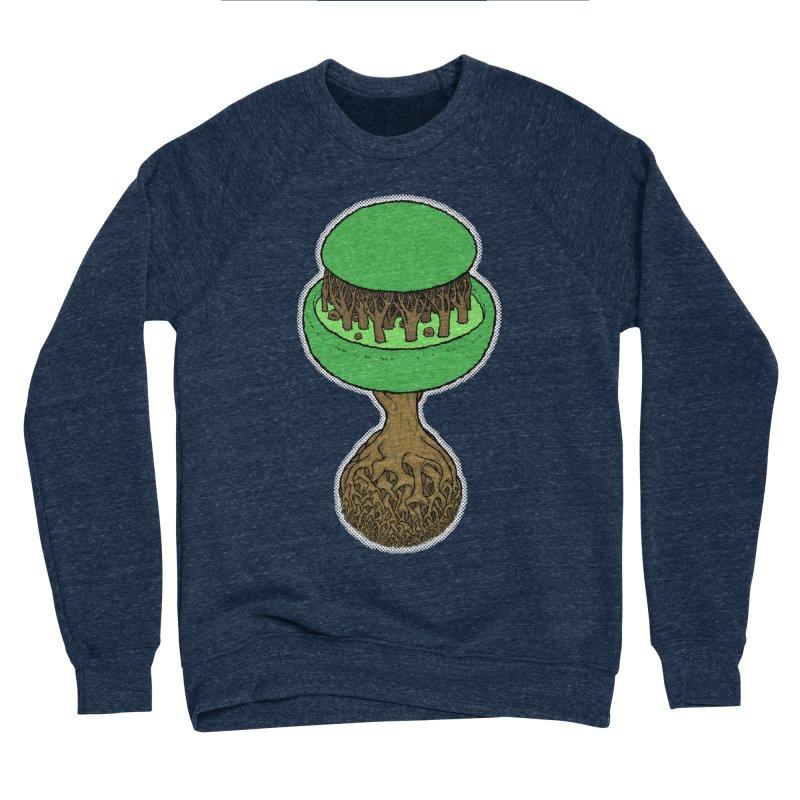 Rootball color Men's Sponge Fleece Sweatshirt by Scott Teplin's Chazerai Bazaar