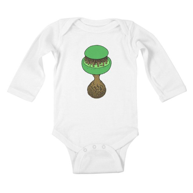 Rootball color Kids Baby Longsleeve Bodysuit by Scott Teplin's Chazerai Bazaar