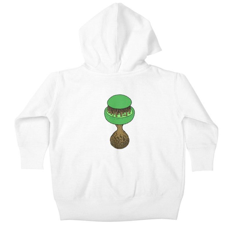 Rootball color Kids Baby Zip-Up Hoody by Scott Teplin's Chazerai Bazaar