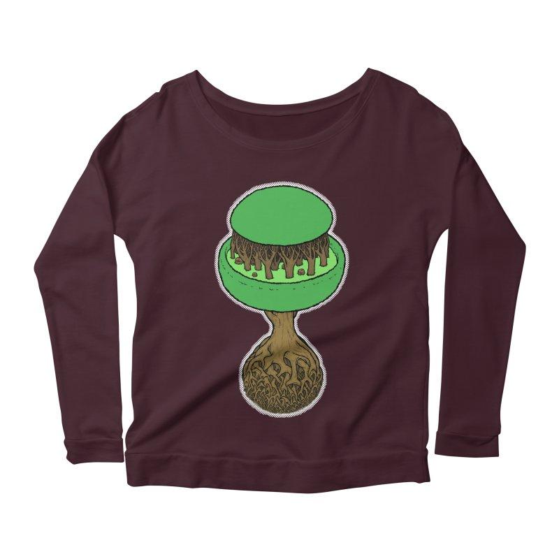 Rootball color Women's Scoop Neck Longsleeve T-Shirt by Scott Teplin's Chazerai Bazaar