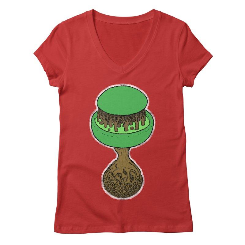 Rootball color Women's Regular V-Neck by Scott Teplin's Chazerai Bazaar
