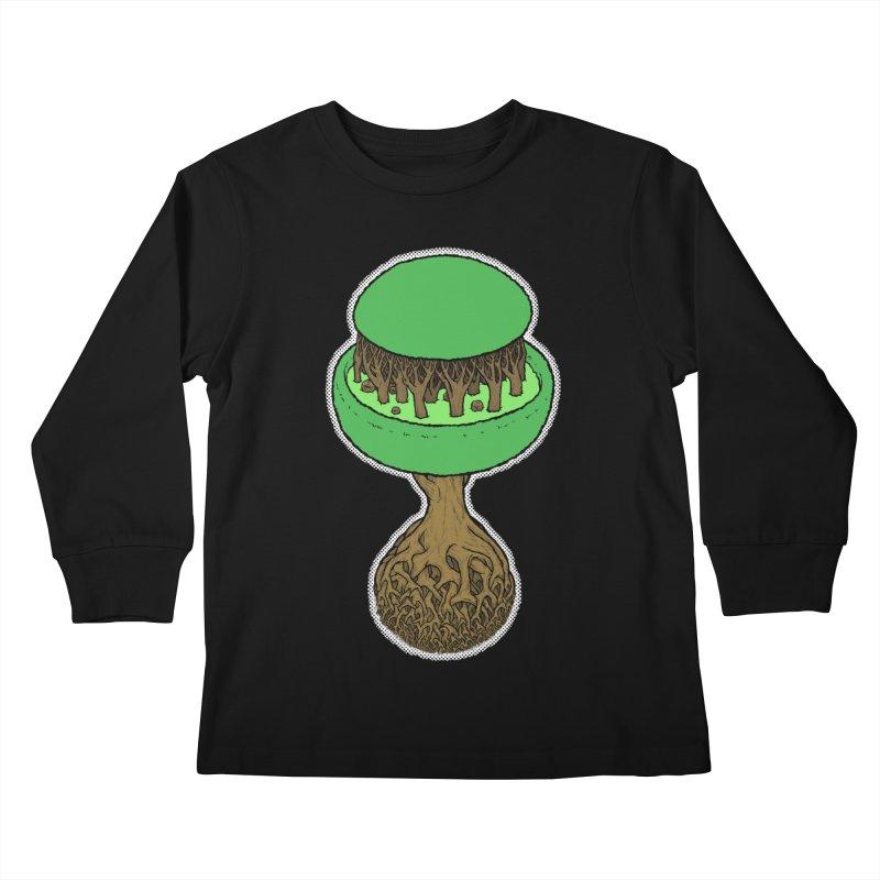 Rootball color Kids Longsleeve T-Shirt by Scott Teplin's Chazerai Bazaar