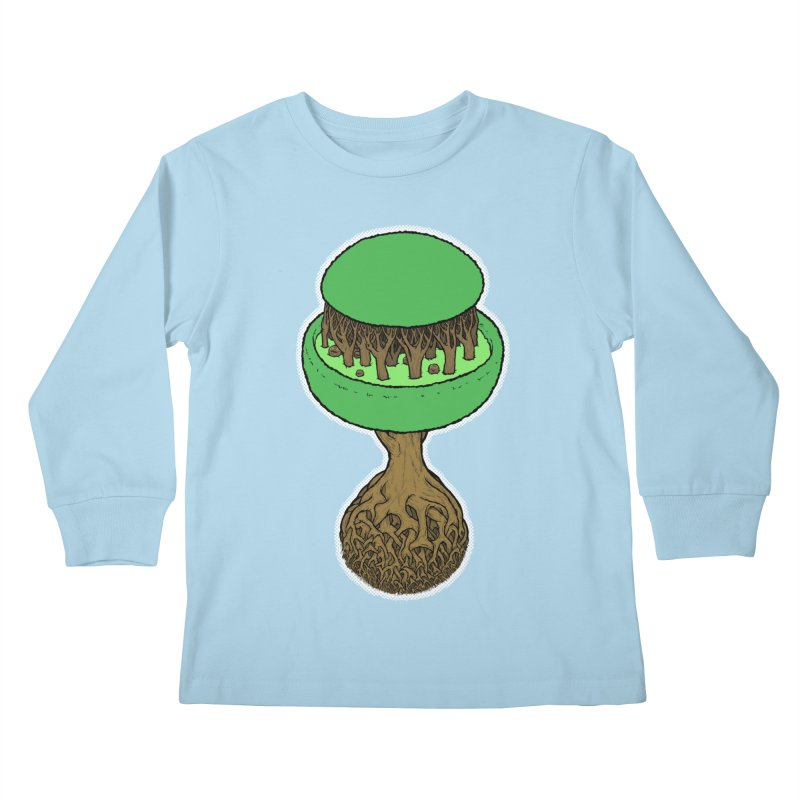 Rootball color Kids Longsleeve T-Shirt by Scott Teplin's Chazerai Bazaar