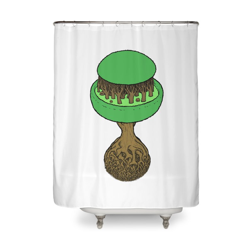 Rootball color Home Shower Curtain by Scott Teplin's Chazerai Bazaar