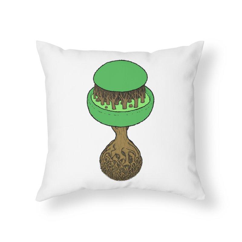 Rootball color Home Throw Pillow by Scott Teplin's Chazerai Bazaar
