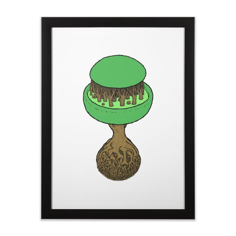 Rootball color Home Framed Fine Art Print by Scott Teplin's Chazerai Bazaar