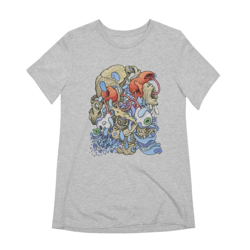Blinky in Pacman's Stomach Women's Extra Soft T-Shirt by Scott Teplin's Chazerai Bazaar