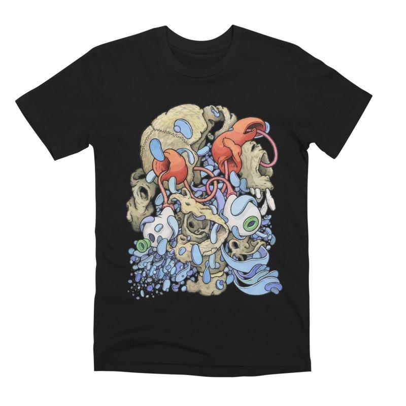 Blinky in Pacman's Stomach Men's Premium T-Shirt by Scott Teplin's Chazerai Bazaar