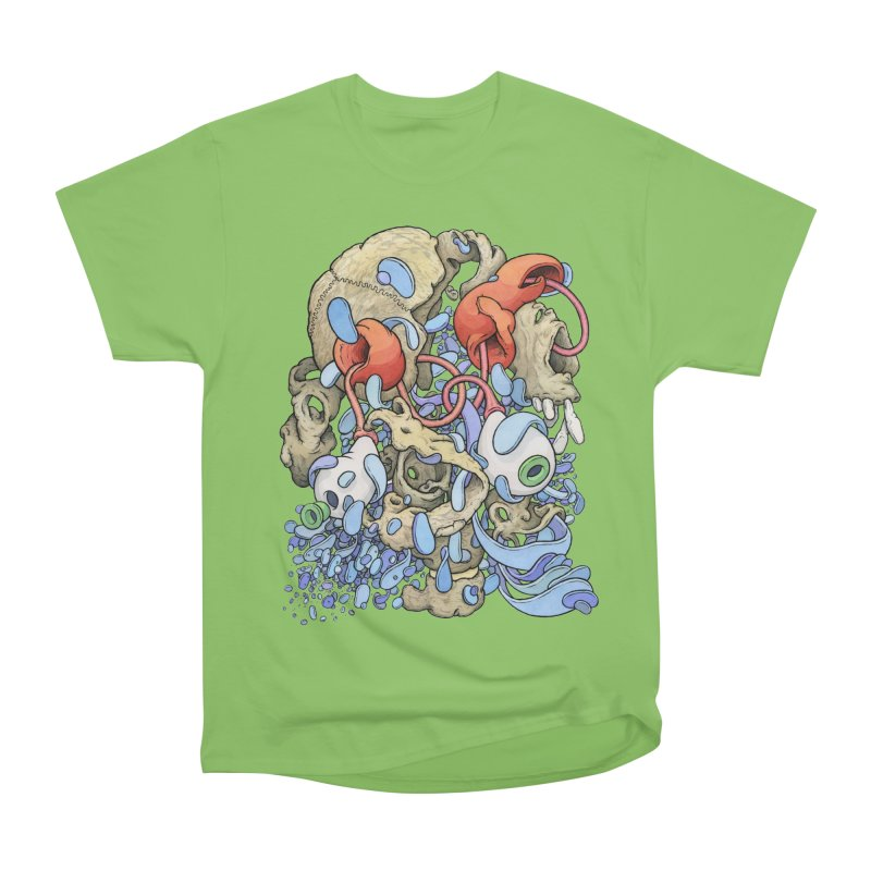 Blinky in Pacman's Stomach Women's Heavyweight Unisex T-Shirt by Scott Teplin's Chazerai Bazaar