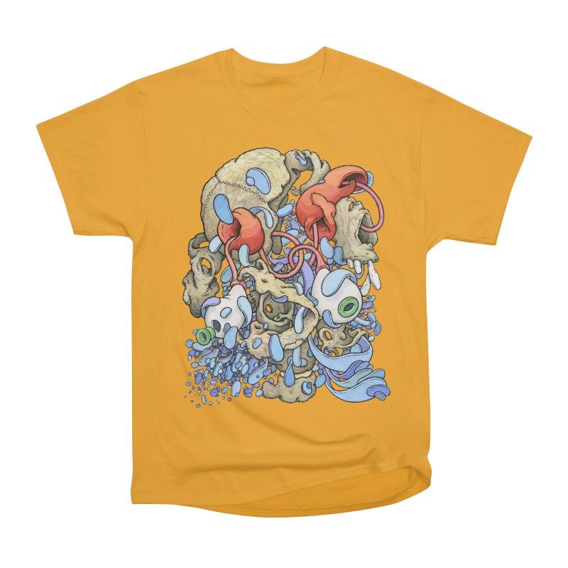 Blinky in Pacman's Stomach Men's Heavyweight T-Shirt by Scott Teplin's Chazerai Bazaar