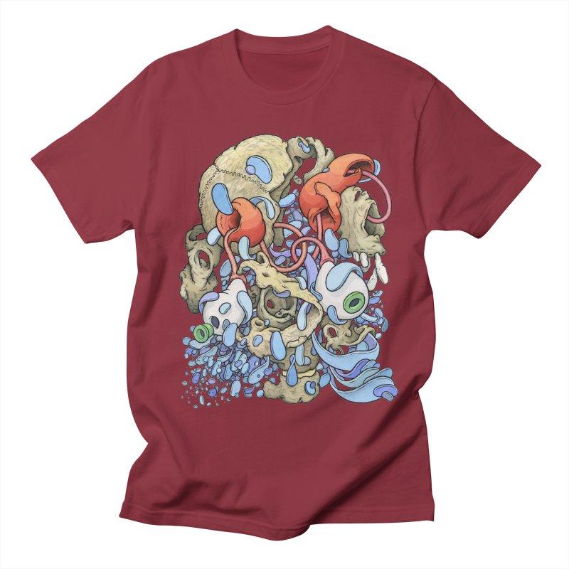 Blinky in Pacman's Stomach Men's Regular T-Shirt by Scott Teplin's Chazerai Bazaar