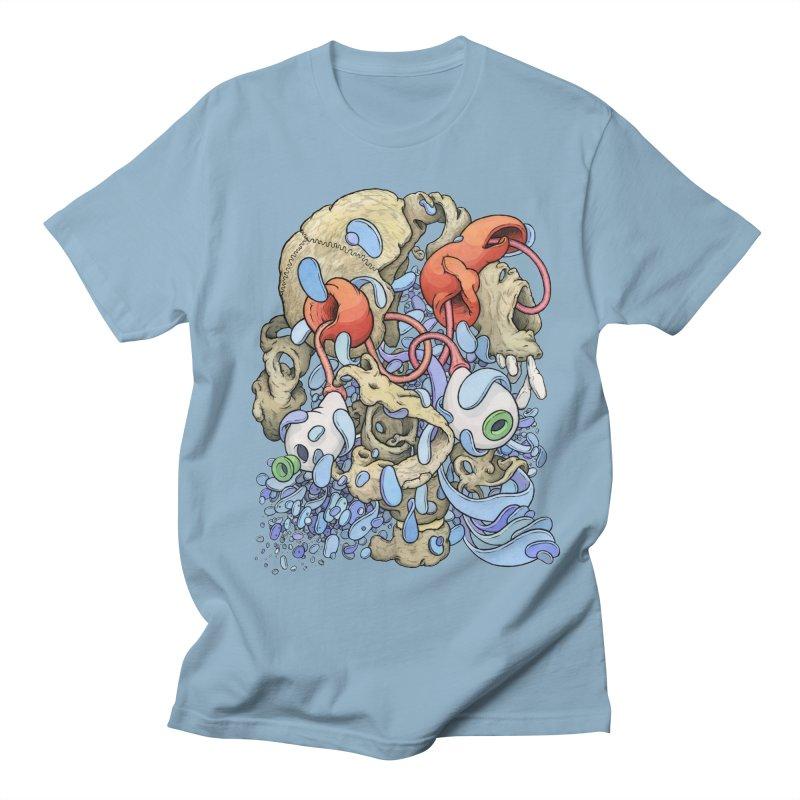 Blinky in Pacman's Stomach Women's Regular Unisex T-Shirt by Scott Teplin's Chazerai Bazaar