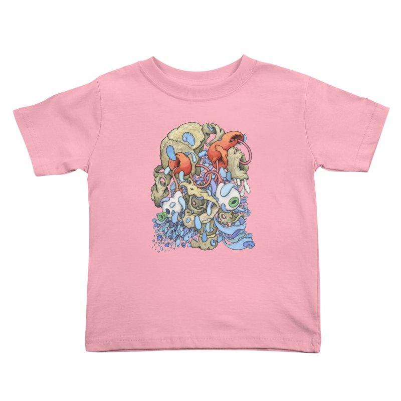 Blinky in Pacman's Stomach Kids Toddler T-Shirt by Scott Teplin's Chazerai Bazaar
