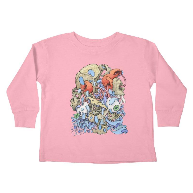 Blinky in Pacman's Stomach Kids Toddler Longsleeve T-Shirt by Scott Teplin's Chazerai Bazaar