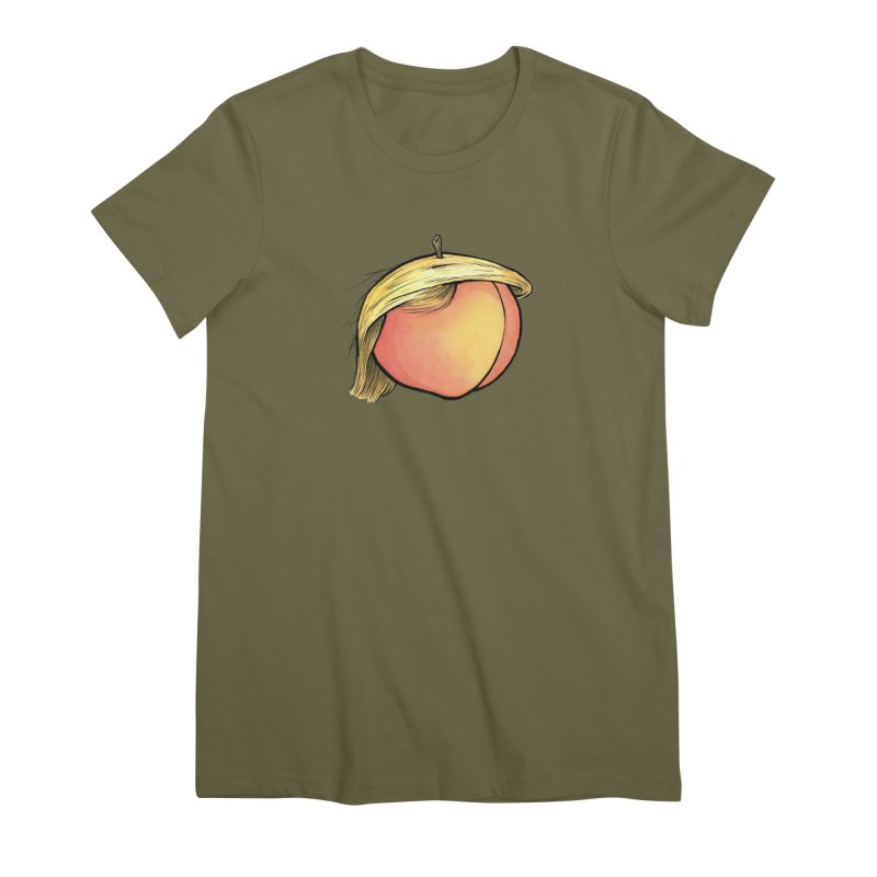 2019: The Year of the Peach Women's Premium T-Shirt by Scott Teplin's Chazerai Bazaar