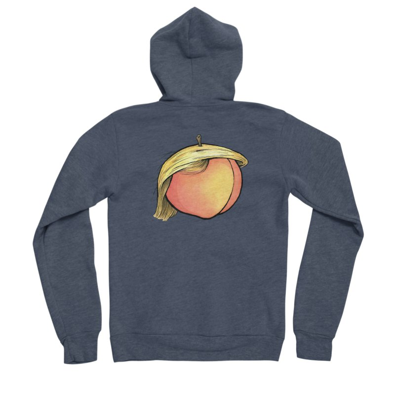 2019: The Year of the Peach Men's Sponge Fleece Zip-Up Hoody by Scott Teplin's Chazerai Bazaar
