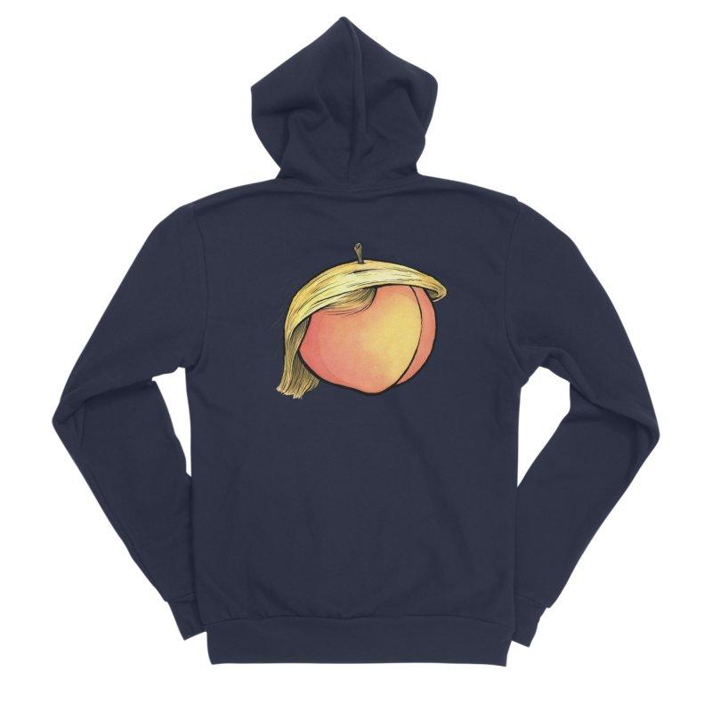 2019: The Year of the Peach Women's Sponge Fleece Zip-Up Hoody by Scott Teplin's Chazerai Bazaar