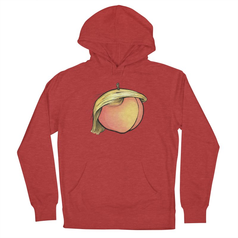 2019: The Year of the Peach Women's French Terry Pullover Hoody by Scott Teplin's Chazerai Bazaar