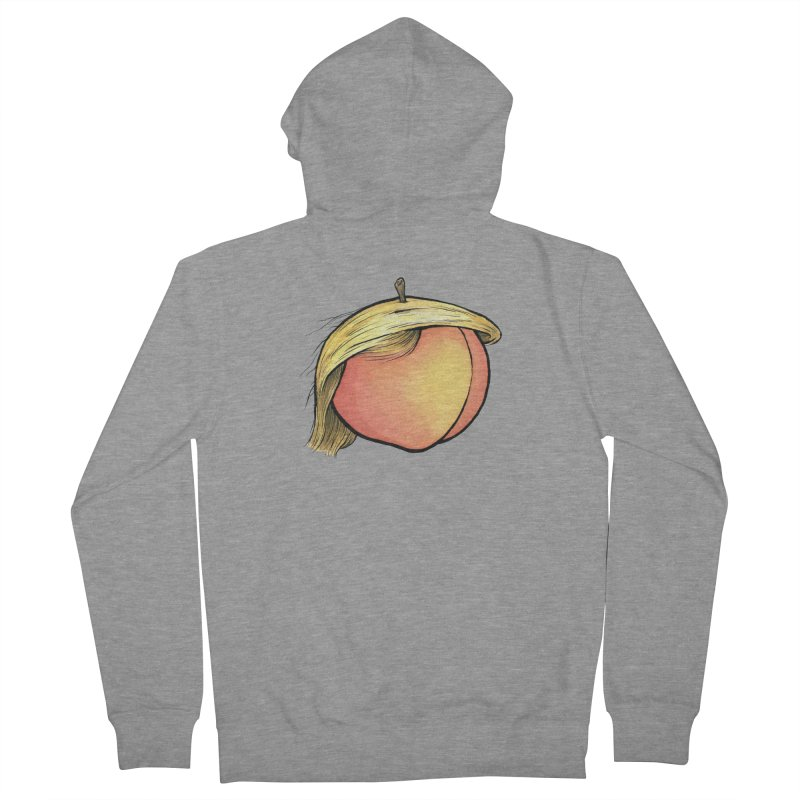 2019: The Year of the Peach Women's French Terry Zip-Up Hoody by Scott Teplin's Chazerai Bazaar