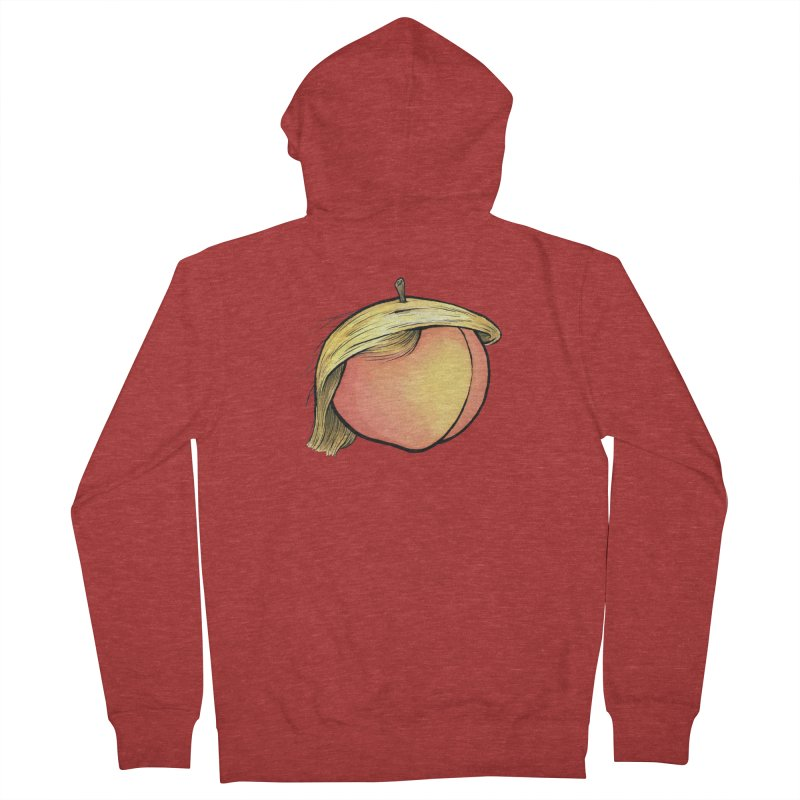 2019: The Year of the Peach Men's French Terry Zip-Up Hoody by Scott Teplin's Chazerai Bazaar