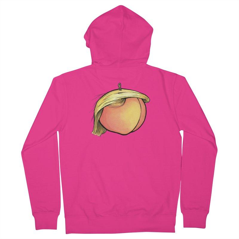 2019: The Year of the Peach Men's French Terry Zip-Up Hoody by Scott Teplin's Chazerai Bazaar