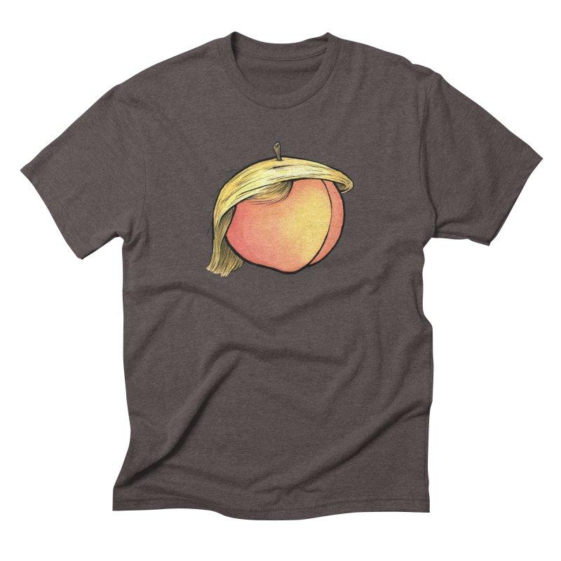 2019: The Year of the Peach Men's Triblend T-Shirt by Scott Teplin's Chazerai Bazaar