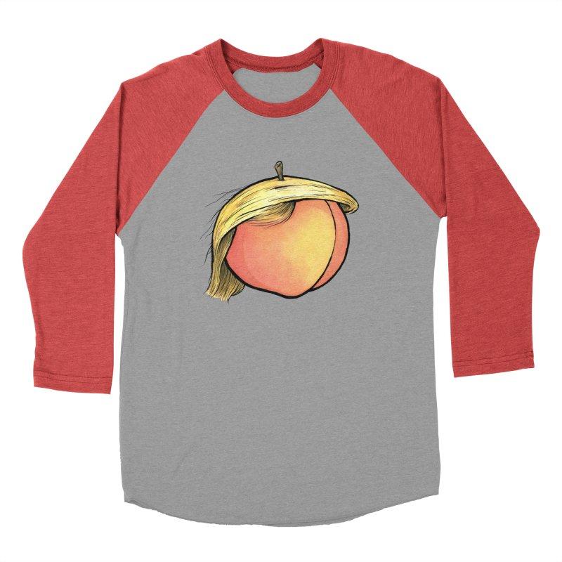 2019: The Year of the Peach Women's Baseball Triblend Longsleeve T-Shirt by Scott Teplin's Chazerai Bazaar