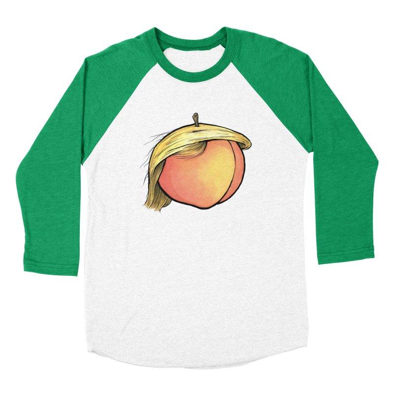 2019: The Year of the Peach Men's Baseball Triblend Longsleeve T-Shirt by Scott Teplin's Chazerai Bazaar