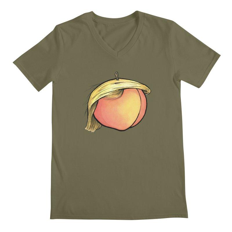 2019: The Year of the Peach Men's Regular V-Neck by Scott Teplin's Chazerai Bazaar