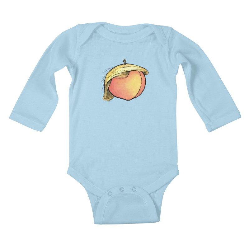 2019: The Year of the Peach Kids Baby Longsleeve Bodysuit by Scott Teplin's Chazerai Bazaar