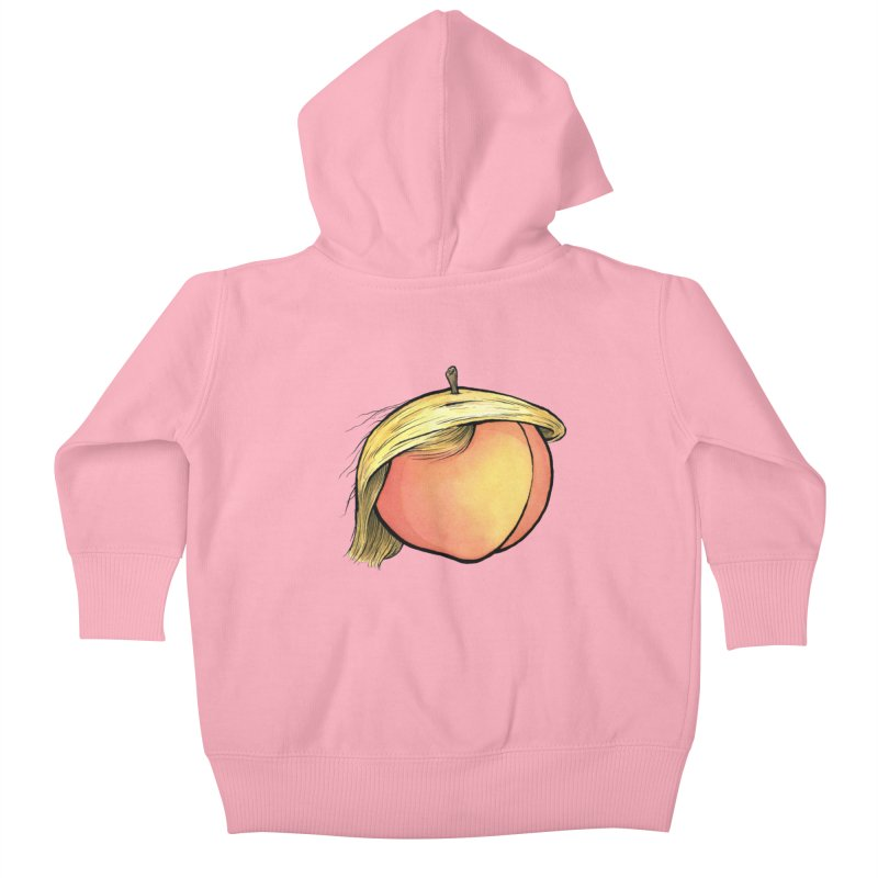 2019: The Year of the Peach Kids Baby Zip-Up Hoody by Scott Teplin's Chazerai Bazaar