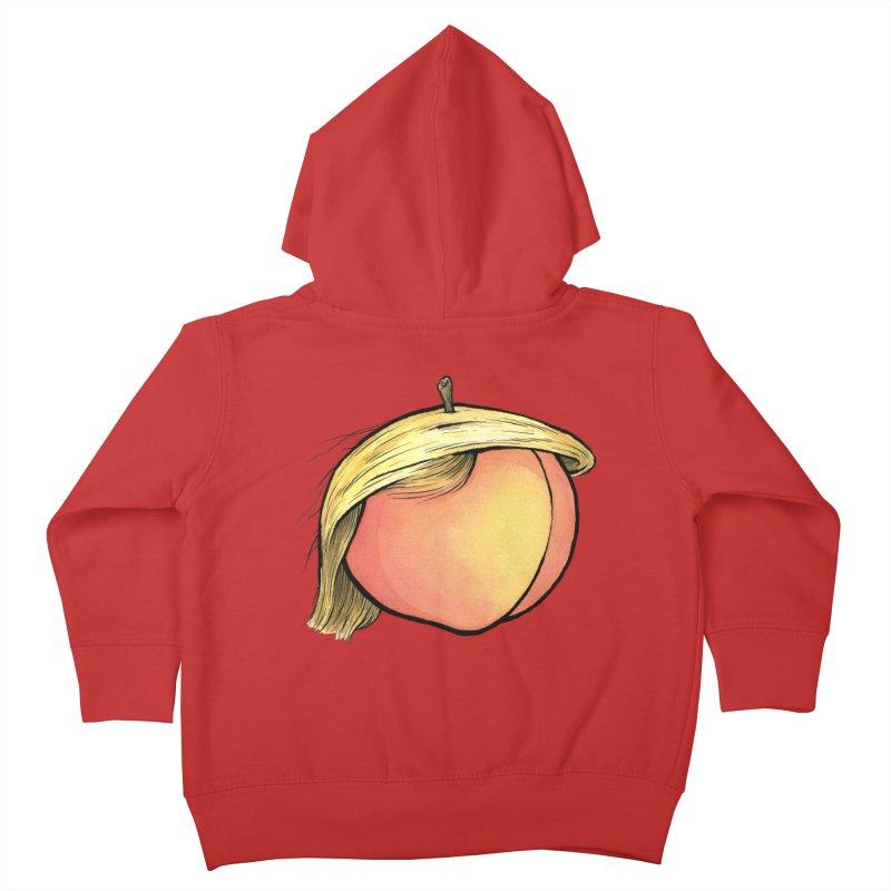 2019: The Year of the Peach Kids Toddler Zip-Up Hoody by Scott Teplin's Chazerai Bazaar